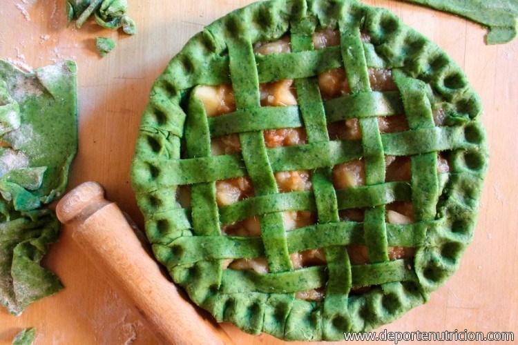 Tarta con kale
