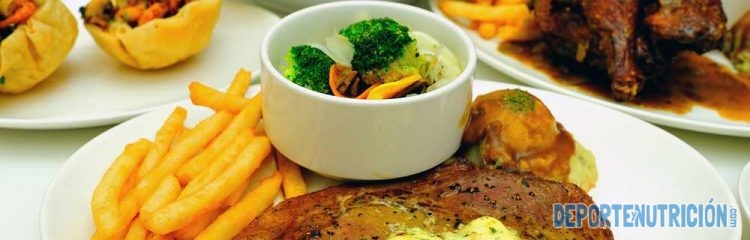 Dieta hipercalórica con carne pagatas y verdura