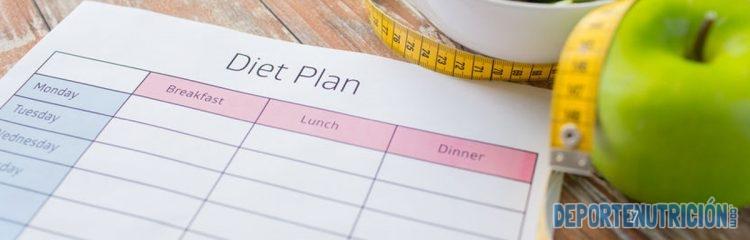 plan dieta calendario comidas